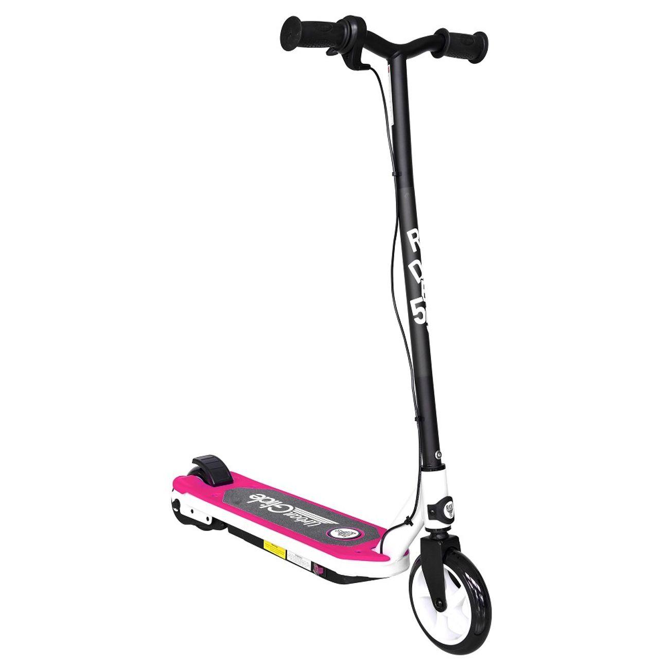 URBANGLIDE Trottinette électrique enfant UrbanGlide Ride 55 Rose - Dès 6 ans - Ultra légère - Vitesse max 10Km/h - Béquille