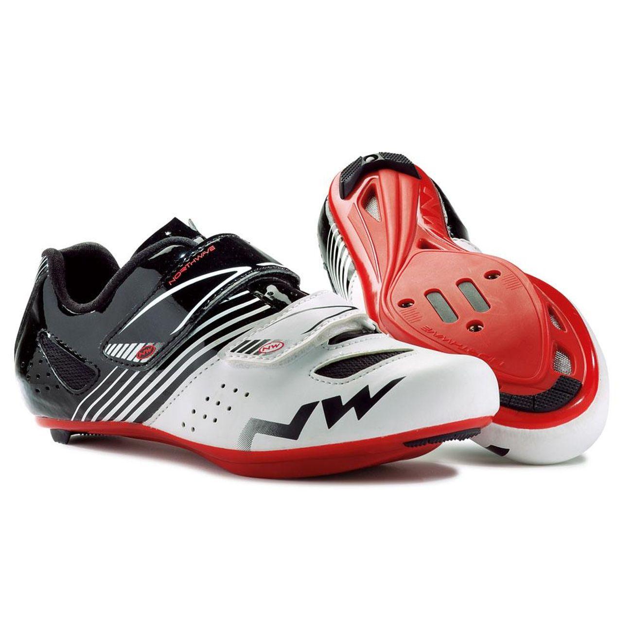 Cyclisme sur route homme NORTHWAVE Chaussures Northwave Torpedo Junior blanc noir rouge