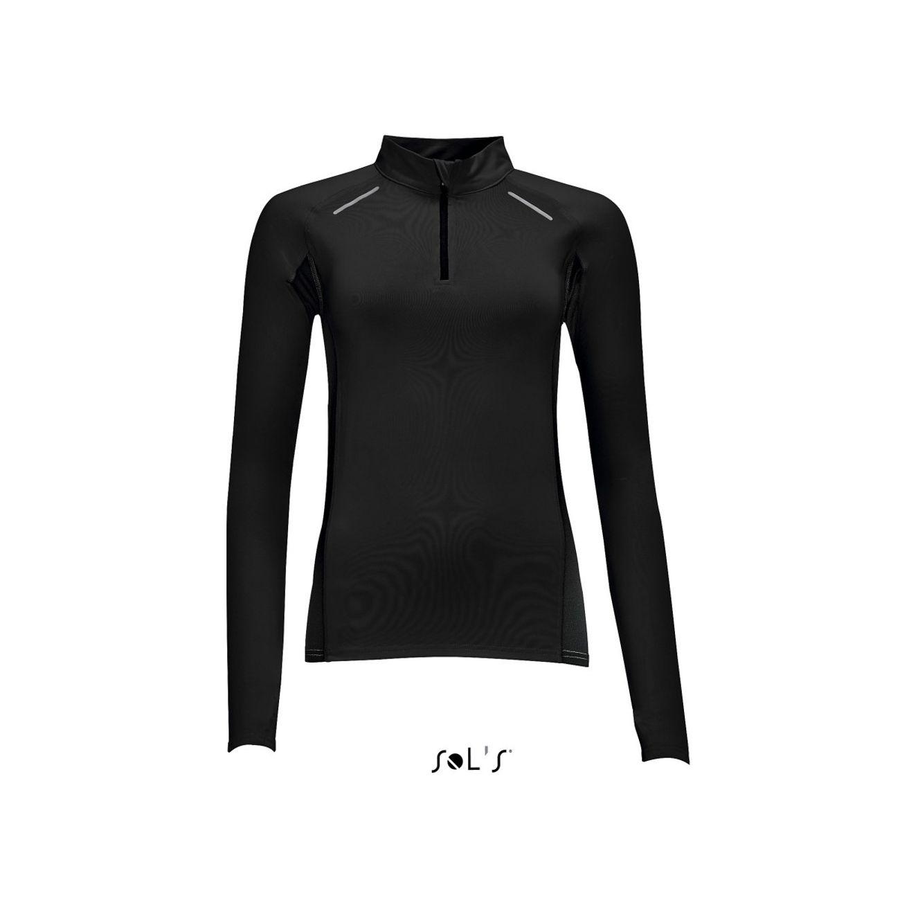 running femme SOL S t-shirt running manches longues - Femme - 01417 - noir