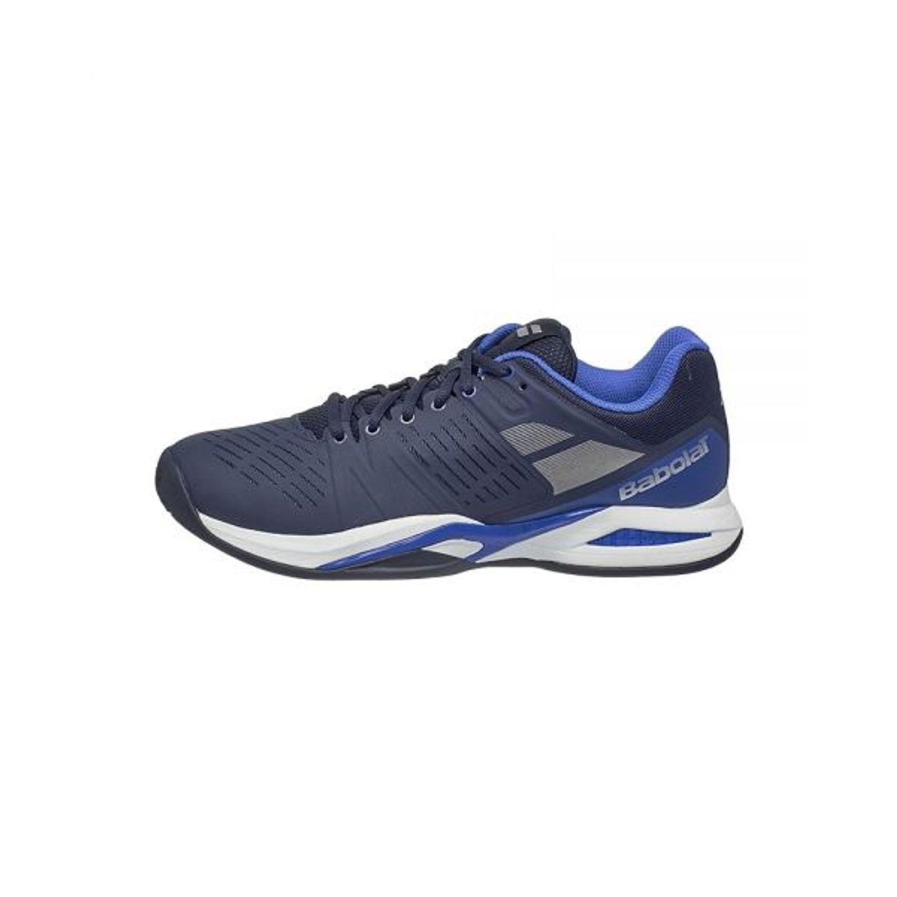 Babolat - Propulse Team Clay chaussures de tennis pour hommes (bleu foncé/blanc) - EU 47 - UK 12 lAGMUiWfI