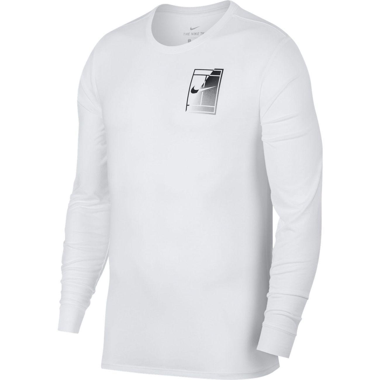Manches Longues T Dry Court Blanc Nike 2017 Shirt Logo Hiver wwB1Yq