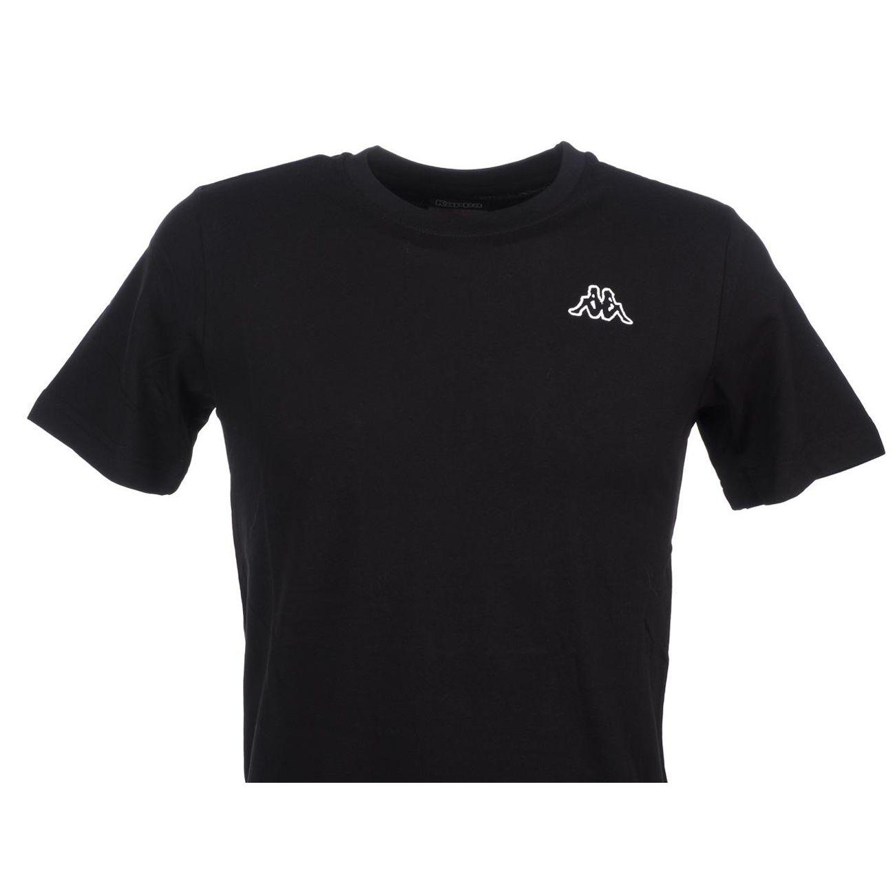 Manches ModeLifestyle Tee Cafers Shirt Homme Courtes Kappa Noir Coton 4A5j3RLq