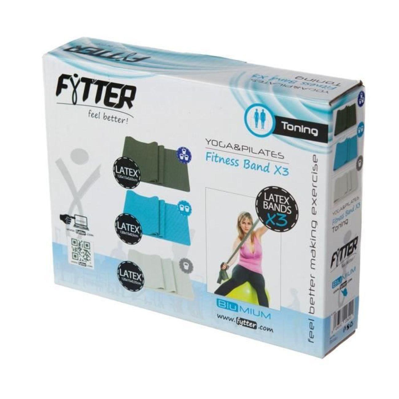 FYTTER FYTTER Fitness band AFB03B, bandes en latex pour les exercices de tonification avec trois niveaux de résistance.