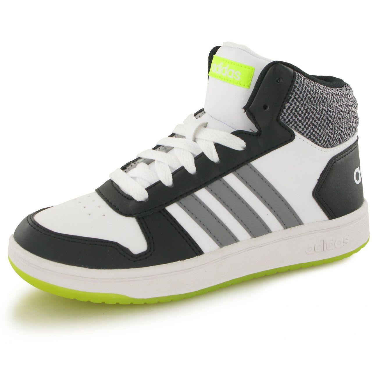 Adidas Hoops Mid 2.0 blanc, baskets mode enfant – achat et