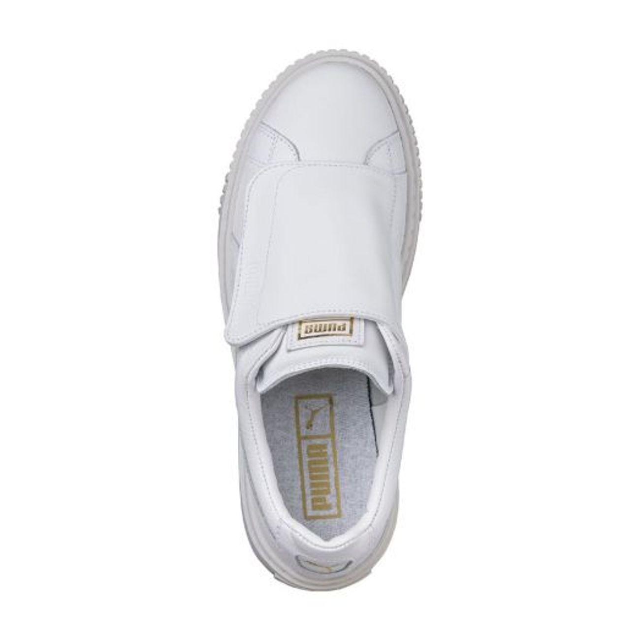 d4a27bd1cb6 ... Mode- Lifestyle femme PUMA Chaussures Puma Basket Platform Big Velcro  Blanc