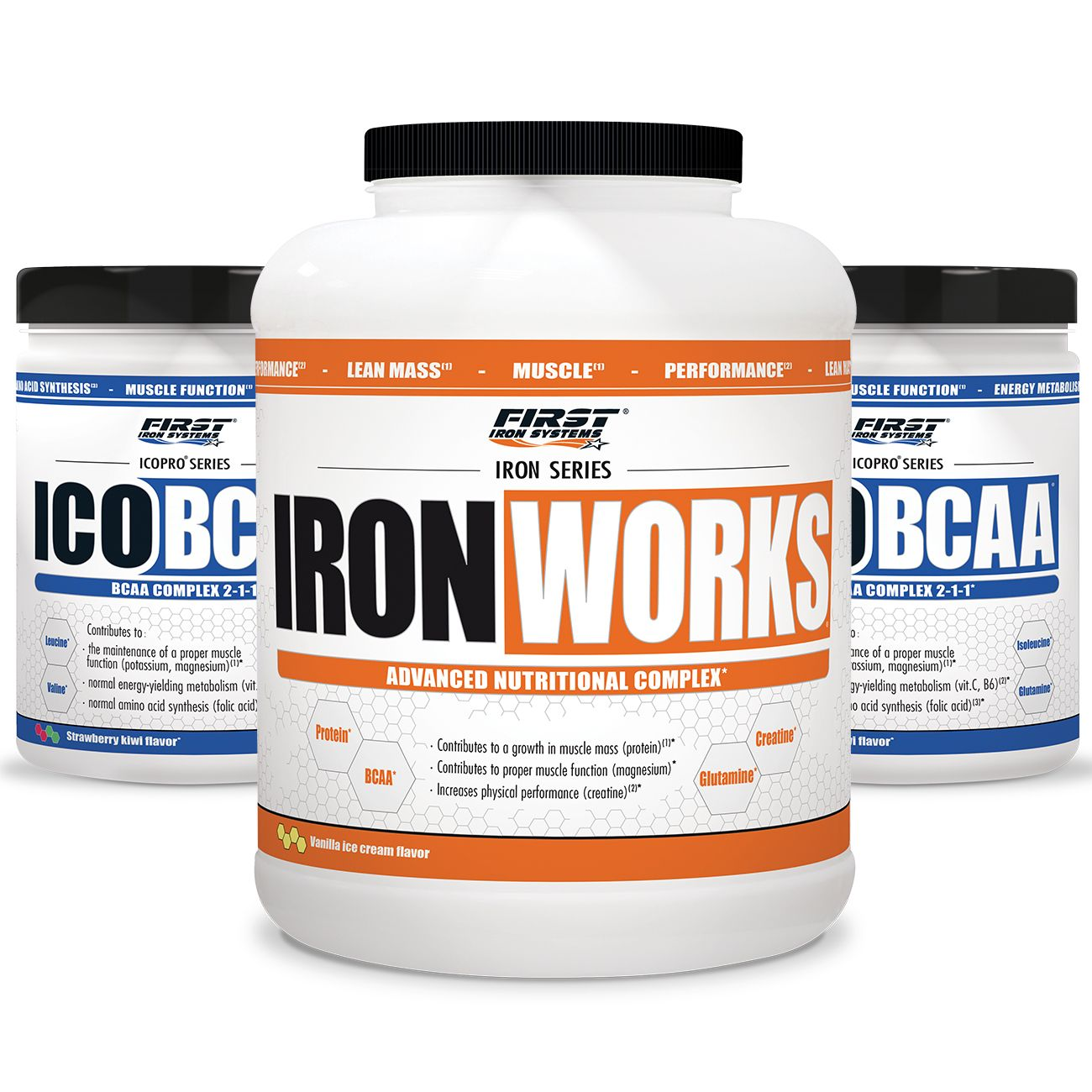 FIRST IRON SYSTEMS PACK 3 : 1 IRON WORKS 2,2KG + 2 ICOBCAA