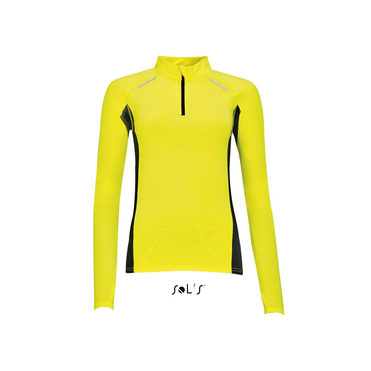 new york new photos offer discounts Course à pied femme SOL S t-shirt running manches longues - Femme - 01417 -  jaune fluo