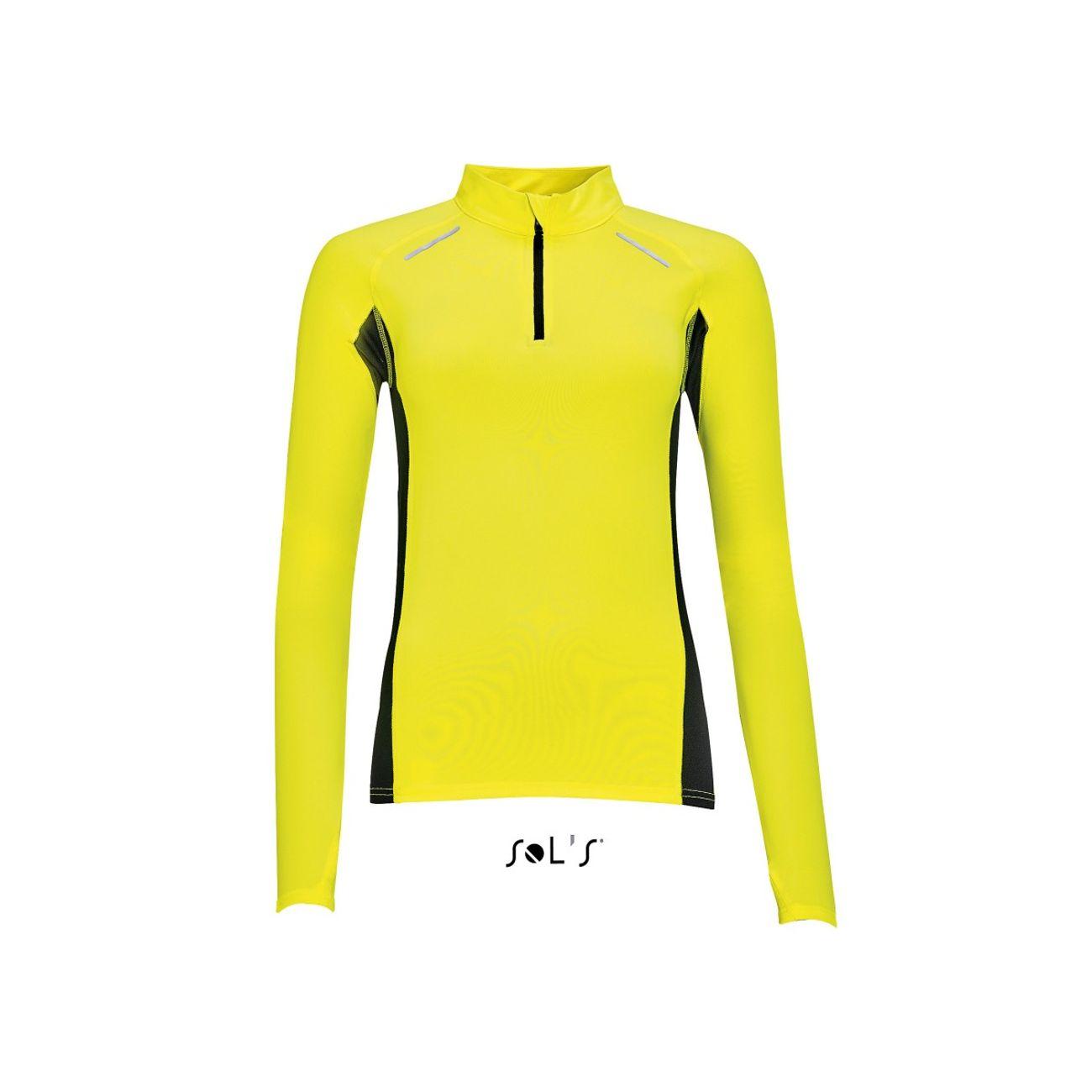Course à pied femme SOL S t-shirt running manches longues - Femme - 01417 2bc69a177326