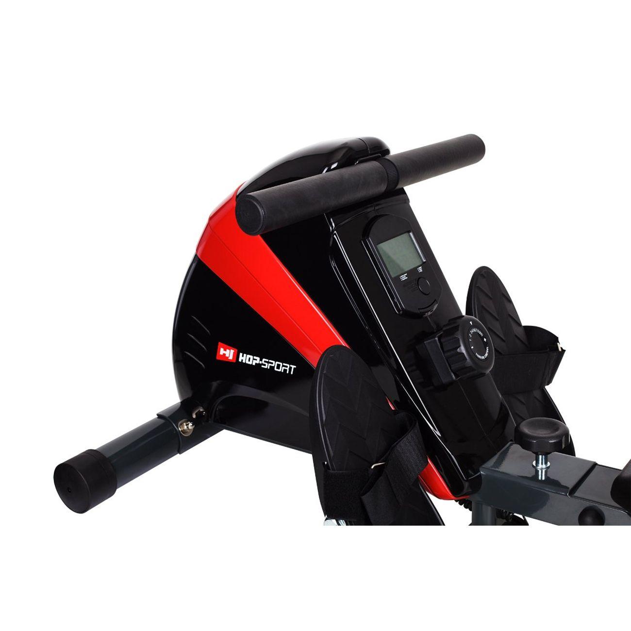 HS HOP SPORT Hop-Sport Rameur HS-030R Boost Machine à ramer équipée de l'ordinateur Rouge