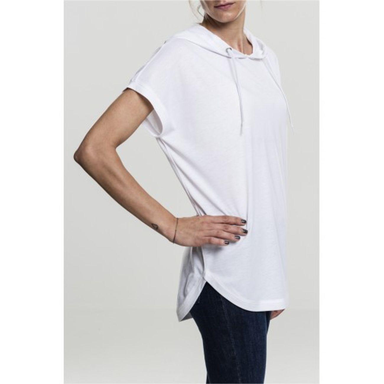 T-shirt manches courtes à capuche basique