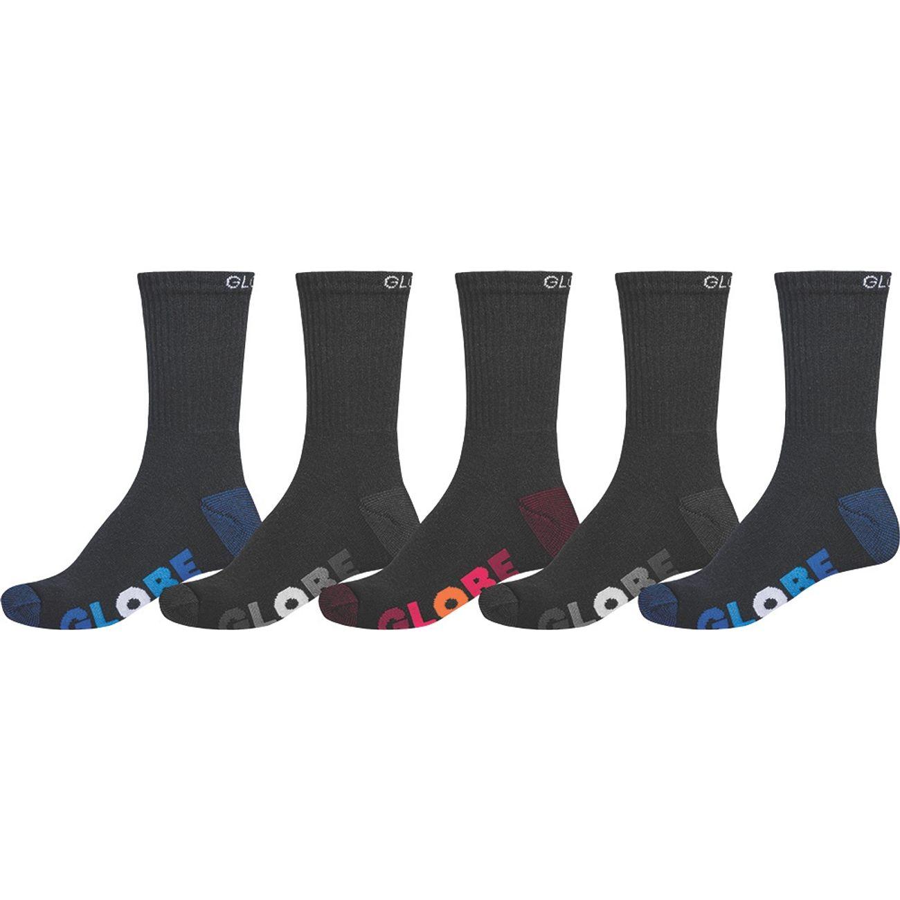 Multi 11 Stripe Globe 5pk Crew Sock 7 Homme Multisport Black ZXkPiu