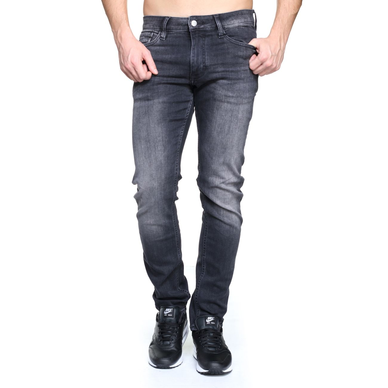f3779ff5b6482 Mode- Lifestyle homme CALVIN KLEIN Jeans Calvin Klein J30j305256 Slim  Straight 903 Gris ...