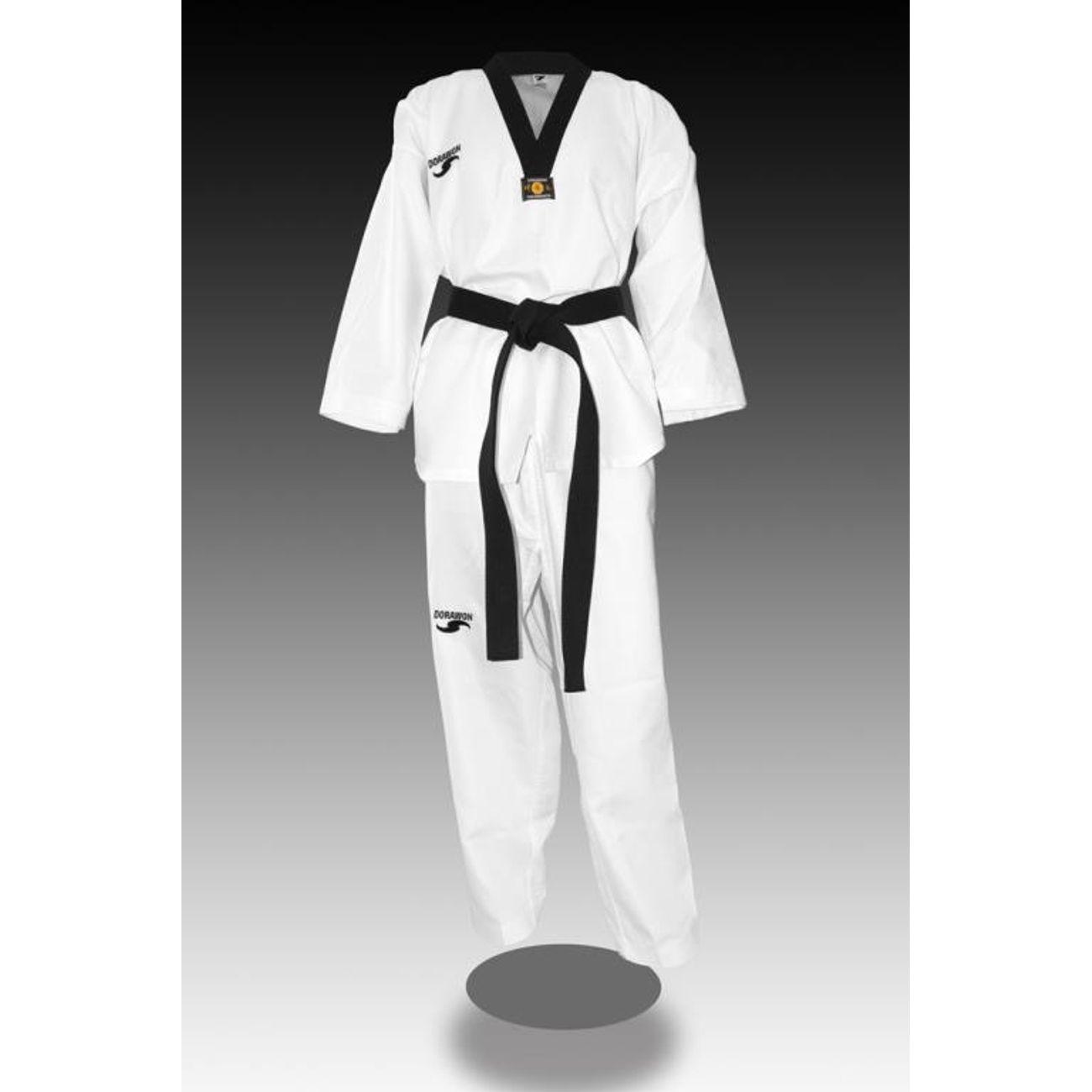 Taekwondo enfant Dorawon DORAWON, Dobok taekwondo brod? RICE, col blanc