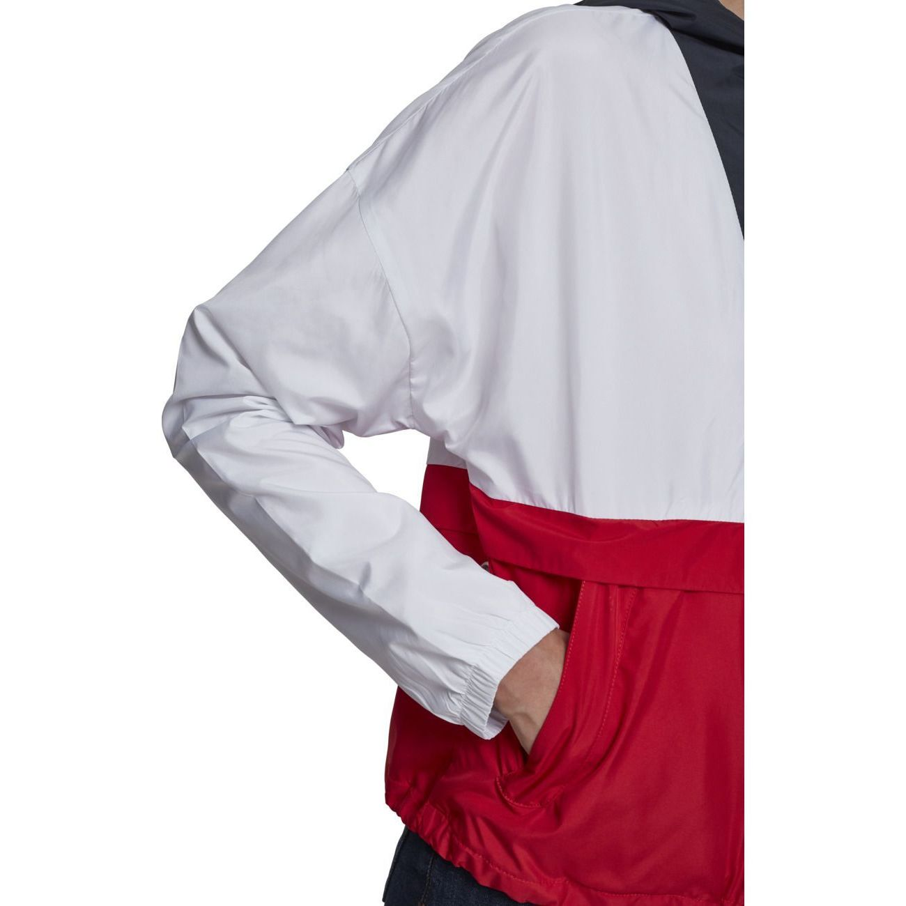 Loisirs femme URBAN CLASSICS Coupe-vent à capuche tricolore avec cordon de serrage