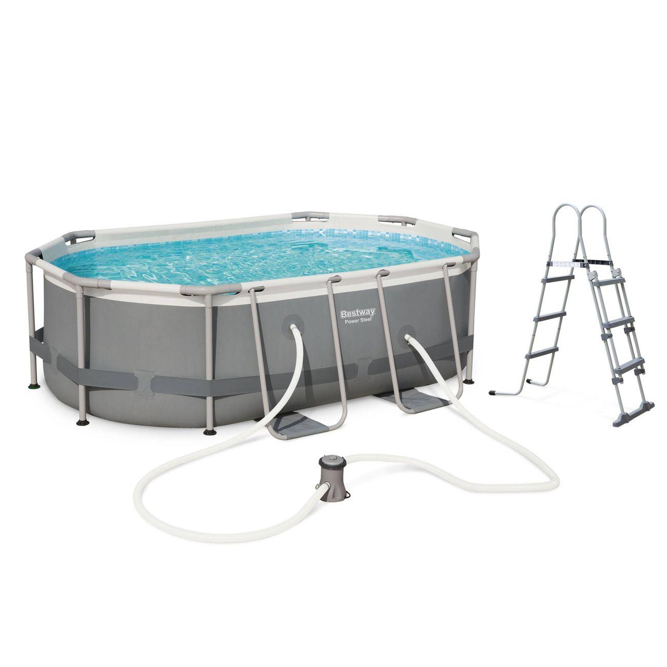 Piscine ovale tubulaire 3 x 2 m bestway quartz 6 m Pompe piscine hors sol pas cher