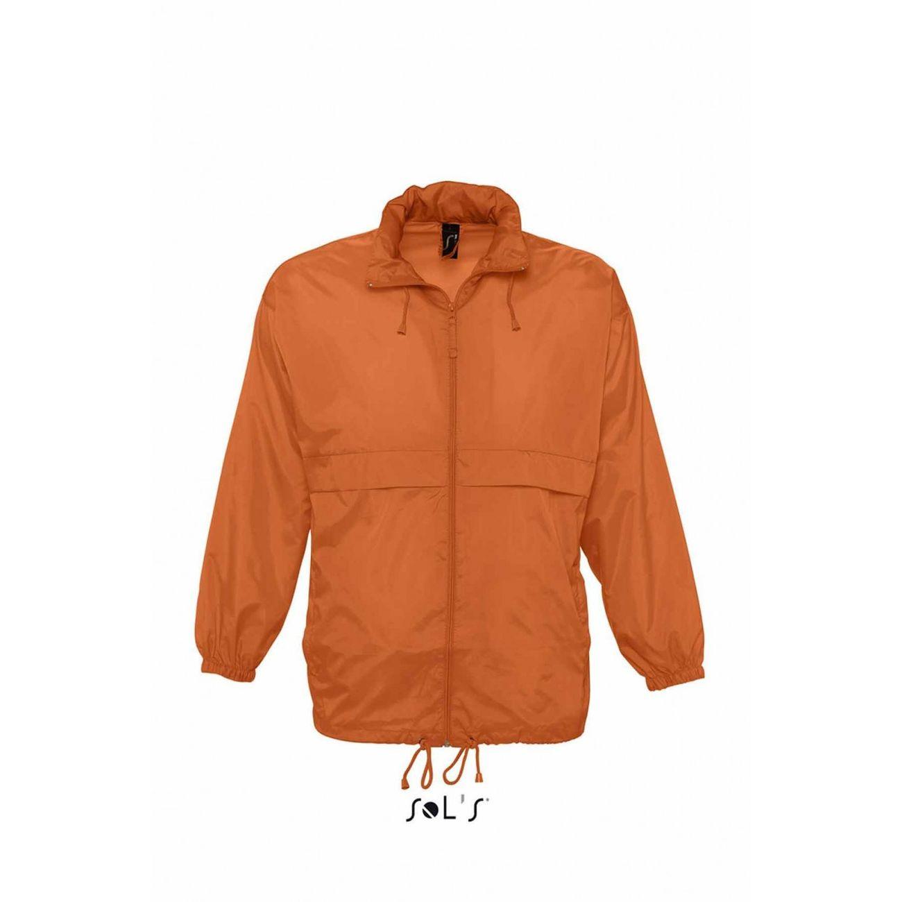 Petite randonnée femme SOL S Veste coupe-vent imperméable - 32000 - orange - mixte homme ou femme