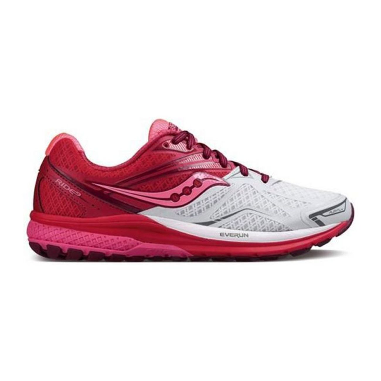 Running Adulte 9 Saucony Rose S103186 Ride Blanc shdQtrCx