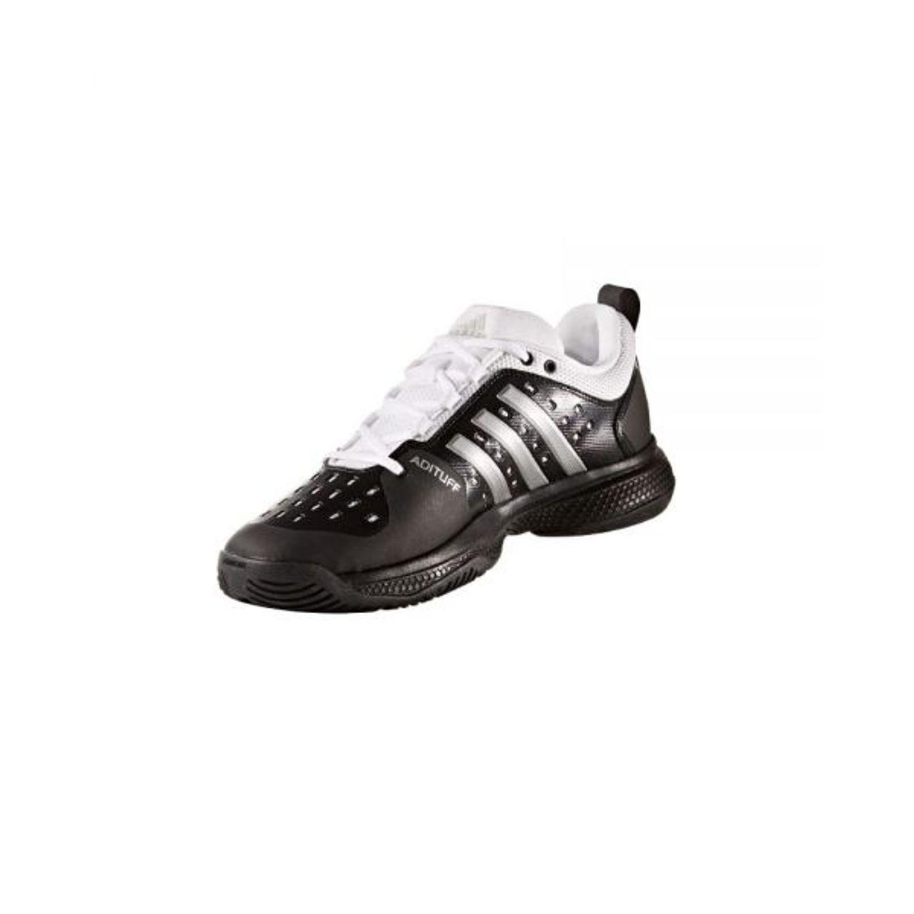 buy online 54a09 f4b4d ... Tennis homme ADIDAS Adidas - Barricade Classic Bounce Hommes Chaussure  de tennis (noir blanc ...