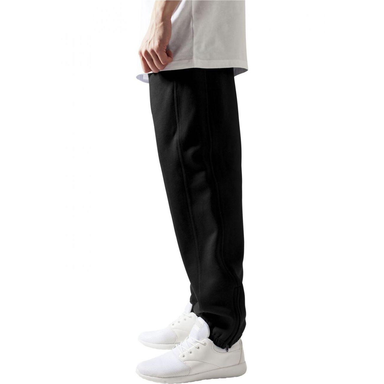 Mode- Lifestyle adulte URBAN CLASSICS Bas de jogging URBAN CLASSICS Noir molletonné coupe large