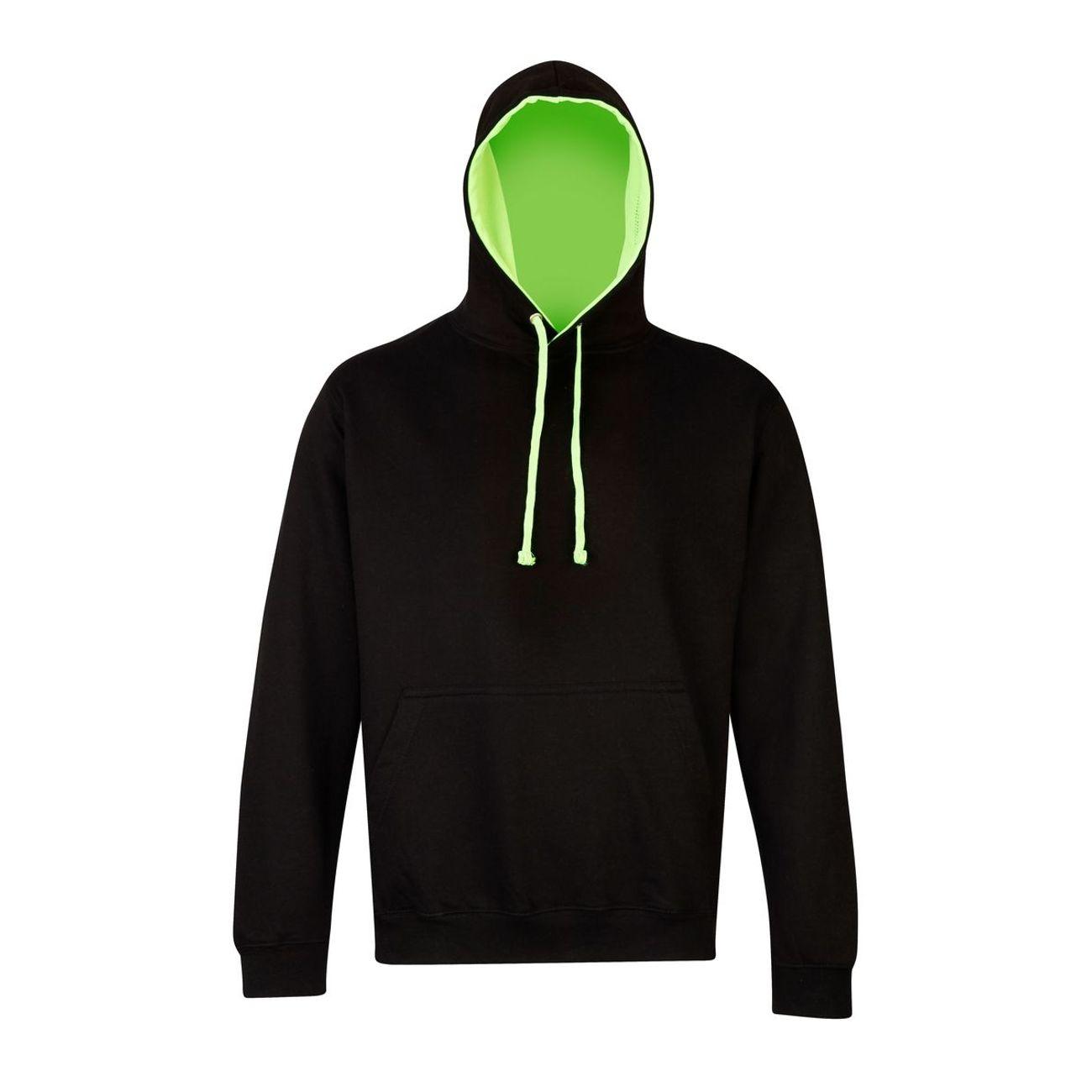ModeLifestyle Homme Capuche À Sweat Vert Fluo Et Noir Awdis ContrastéeJh013 dBExWQroCe