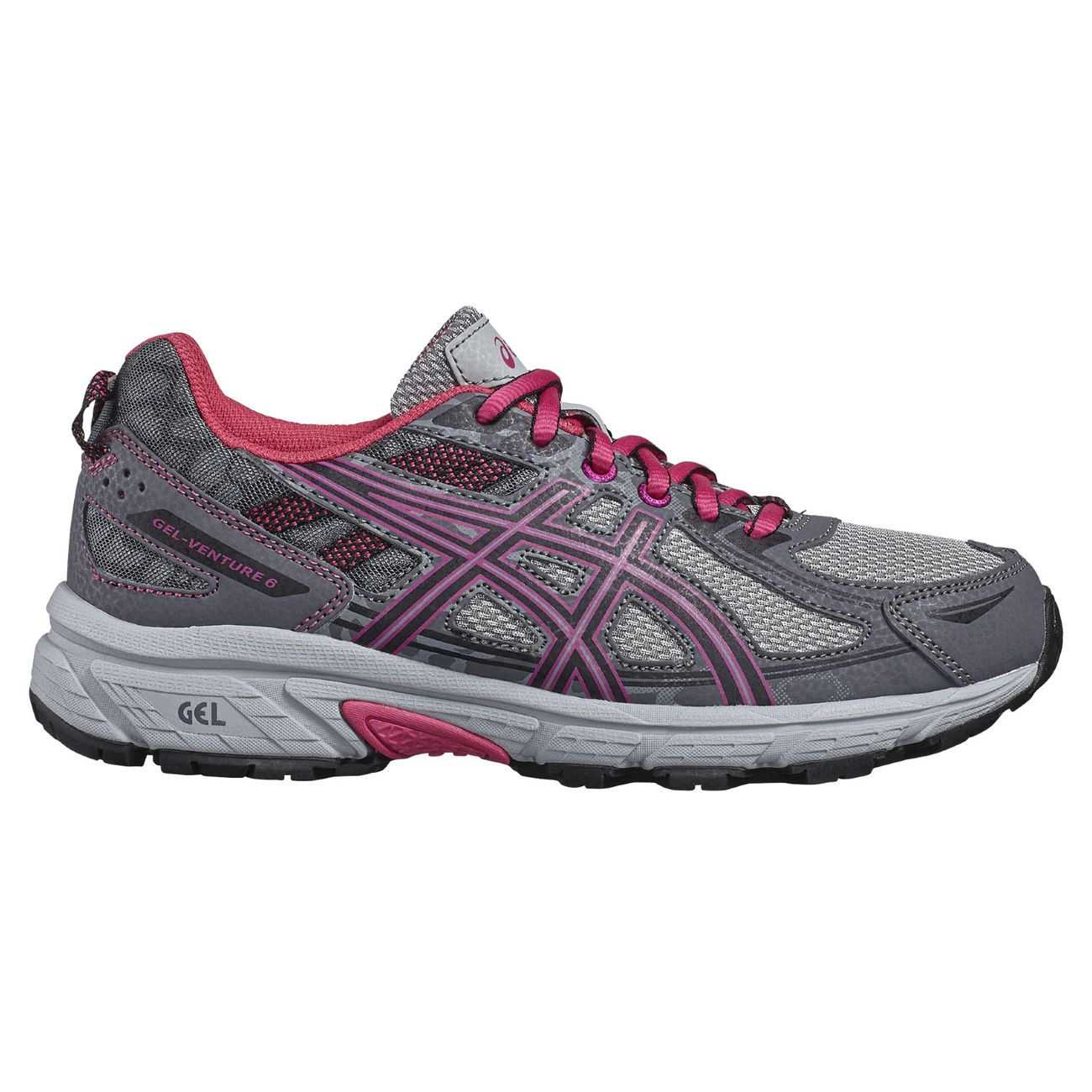 Course à pied enfant ASICS Asics Chaussure de course pour enfant Gel-Venture 6 GS Grey - C744N-9790