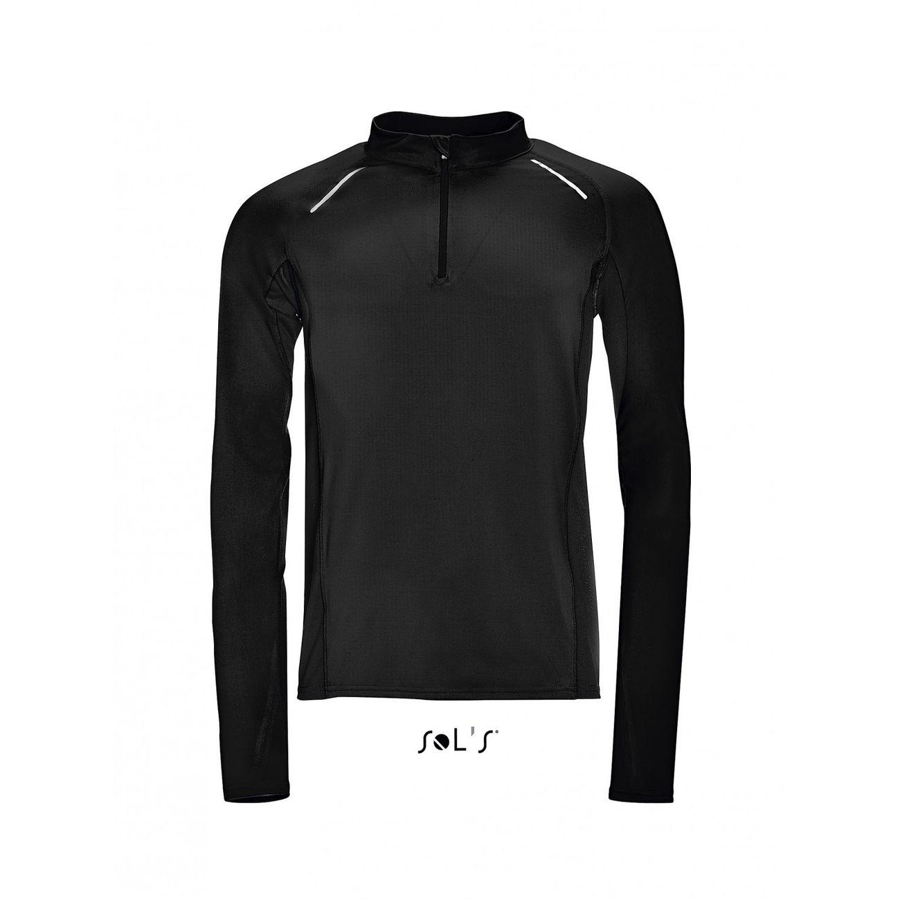 running adulte SOL S t-shirt running manches longues - Homme - 01416 - noir