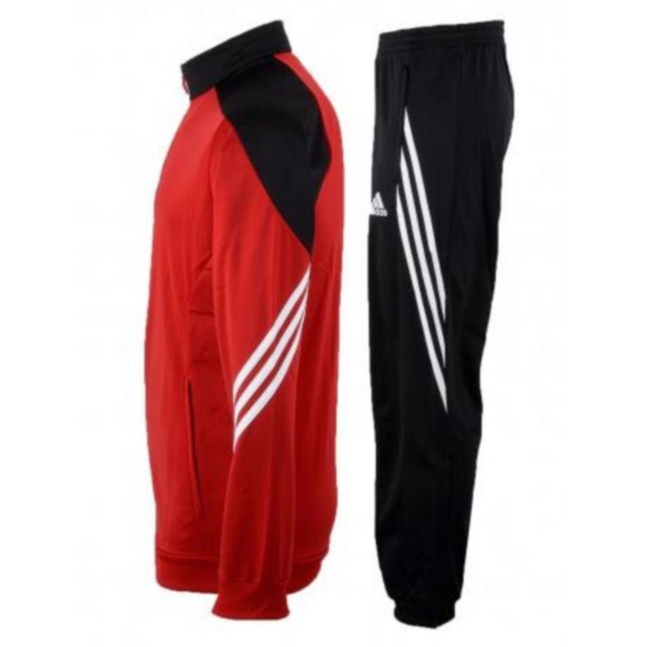 Multiactivité homme ADIDAS PERFORMANCE Jogging Adidas Climalite Noir et Rouge Homme