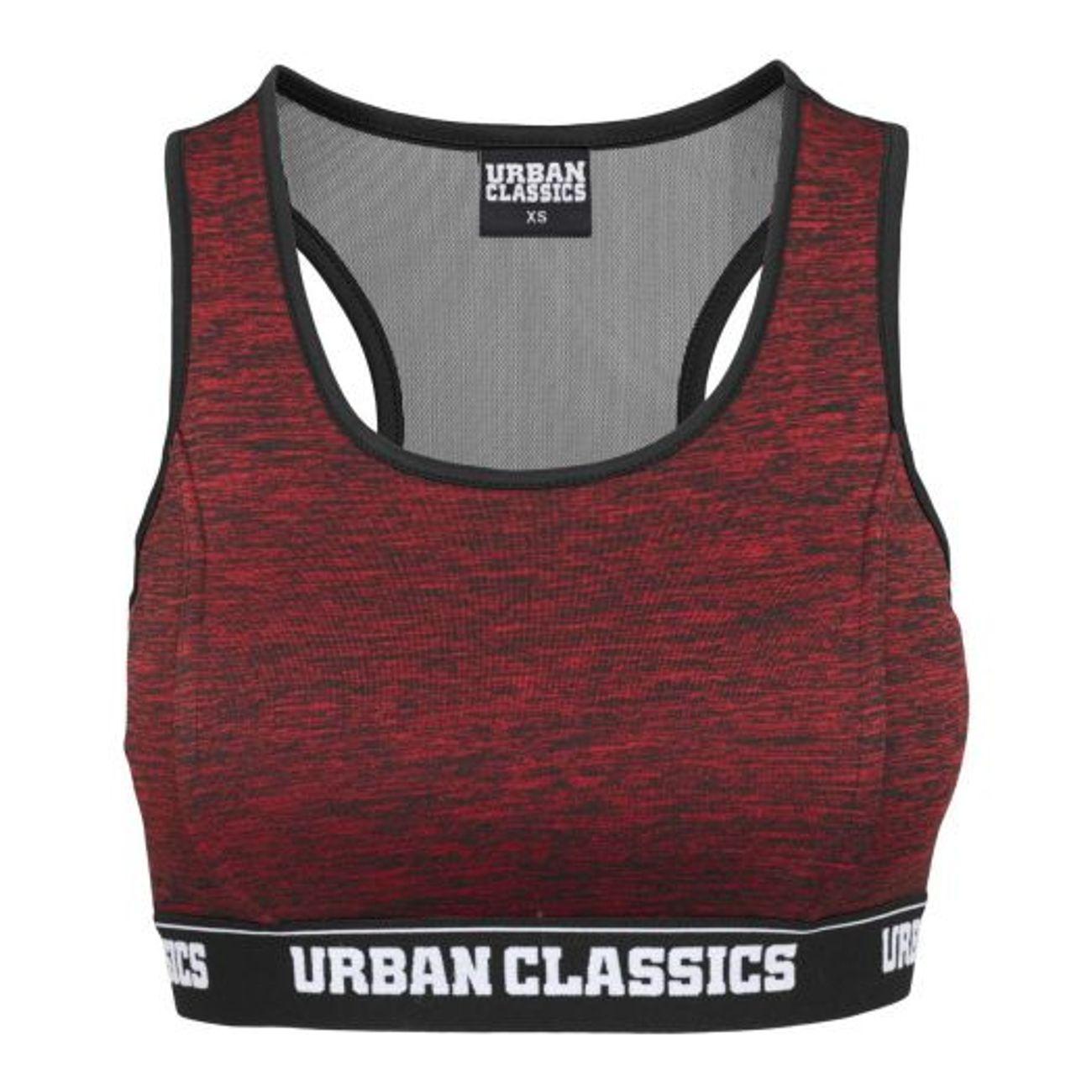 ... Mode- Lifestyle adulte URBAN CLASSICS Brassiere Urban Classics Logo Bra  Rouge et Noir ... 81d57da9d834