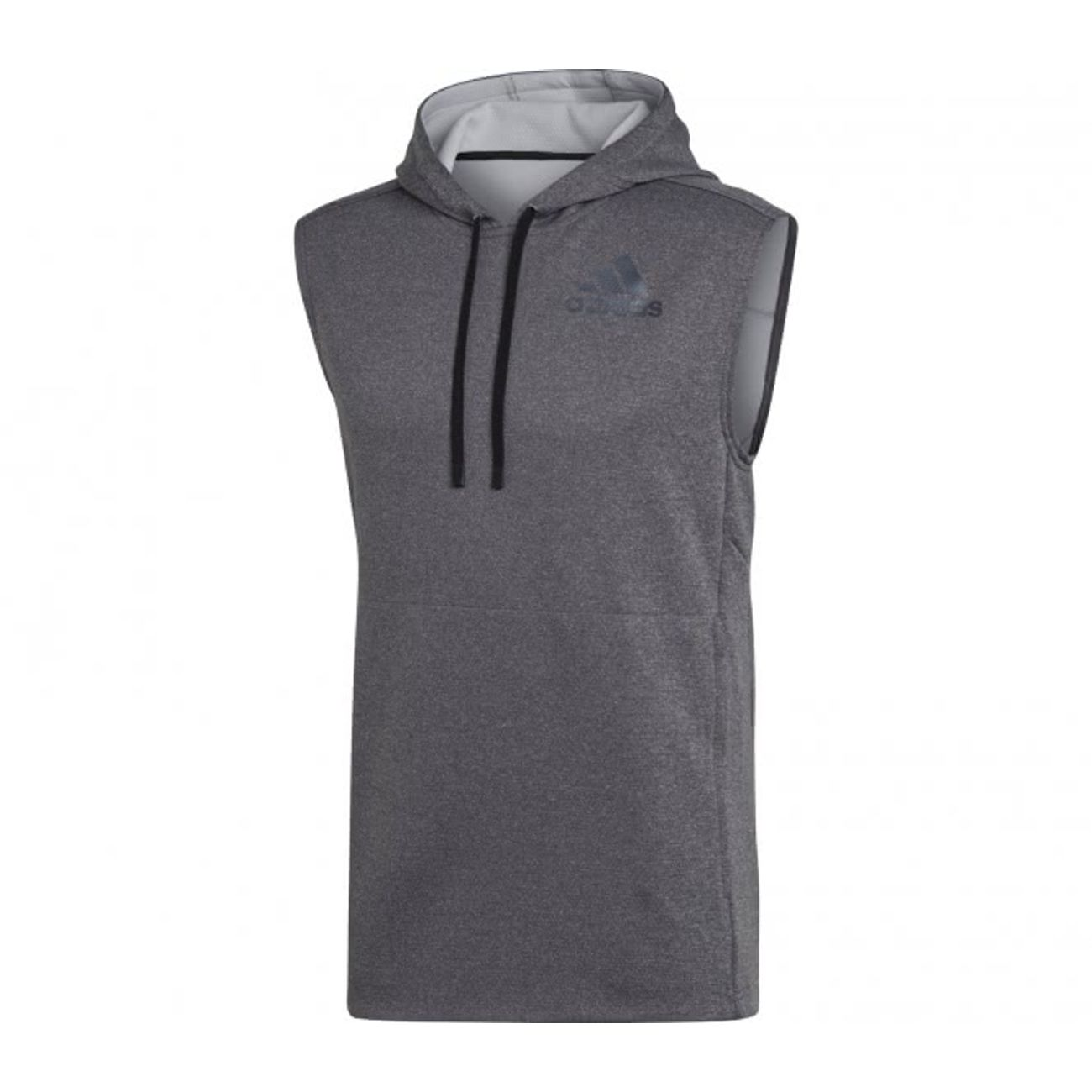 Hommes AdidasWo La Fitness Homme Sleeveless T chemisegris Hooded Formation uFK13Tl5Jc