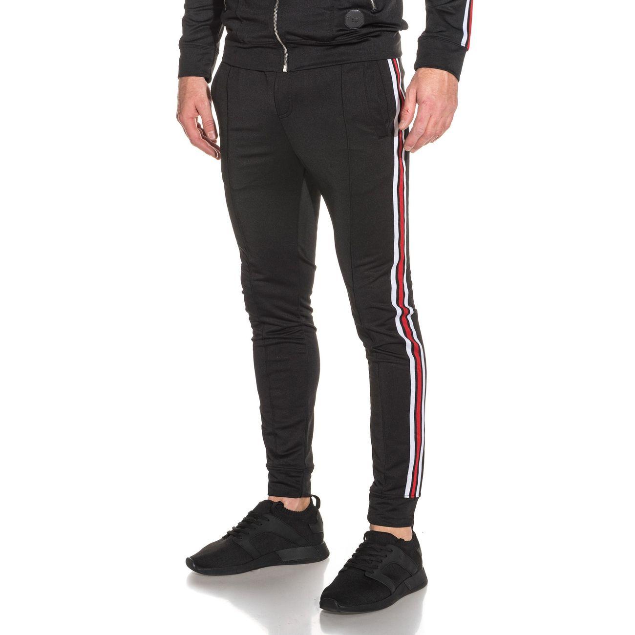 sports shoes 94e4c ae351 bas-de-jogging-noir-bandes-laterales-homme 1 v1.jpeg