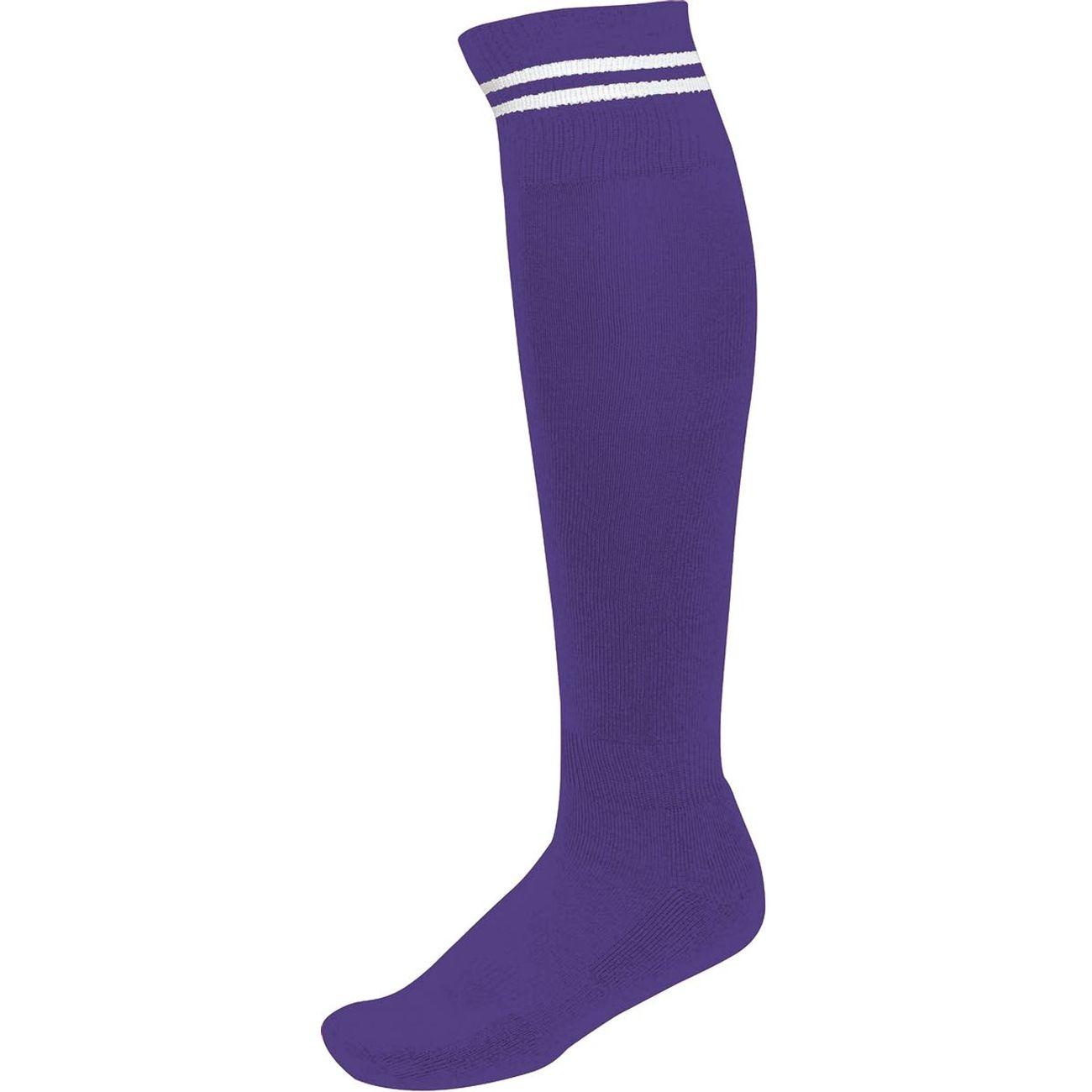 chaussettes sport pa015 violet rayure blanche achat et prix pas cher go sport. Black Bedroom Furniture Sets. Home Design Ideas