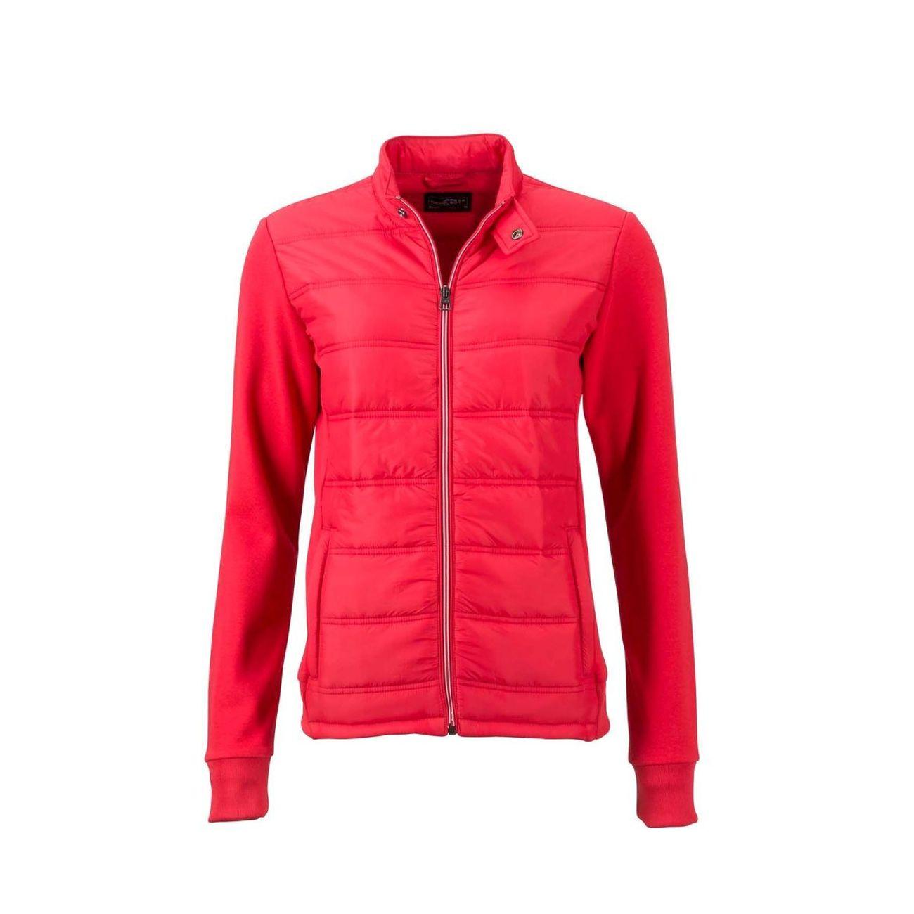 rouge Femme JN1123 style hybride Veste Doudoune sweat AqSafxI