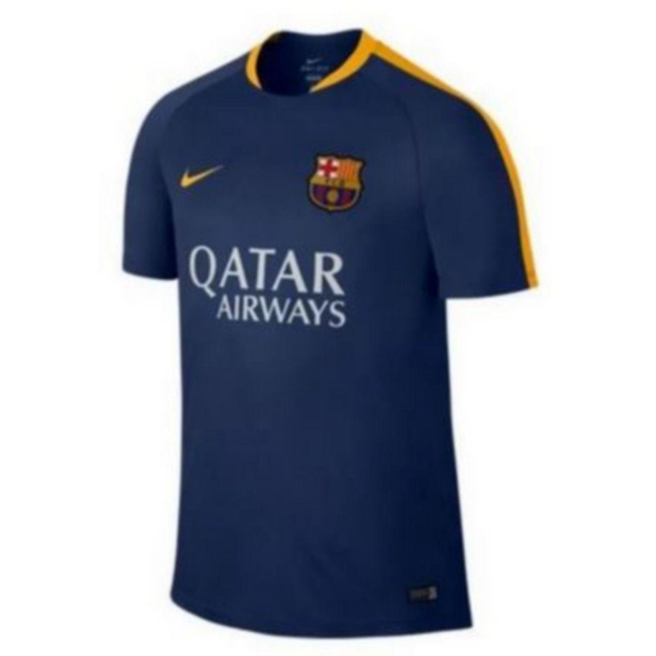 Football enfant NIKE Maillot Officiel D'entrainement Nike FC Barcelone Bleu et Jaune 12/13 ans