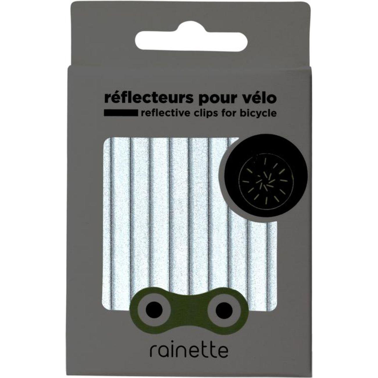 RAINETTE RÉFLECTEURS ANT 12 Bâtons reflechissants pour rayons - Anthracite