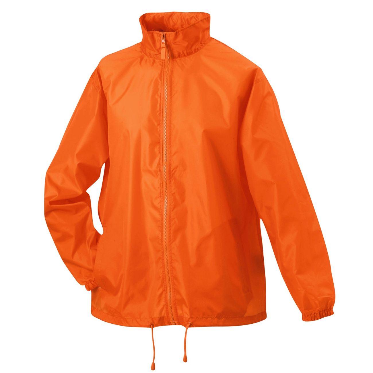 Veste coupe-vent imperméable HOMME FEMME JN195 - orange - achat et prix pas cher - Go Sport