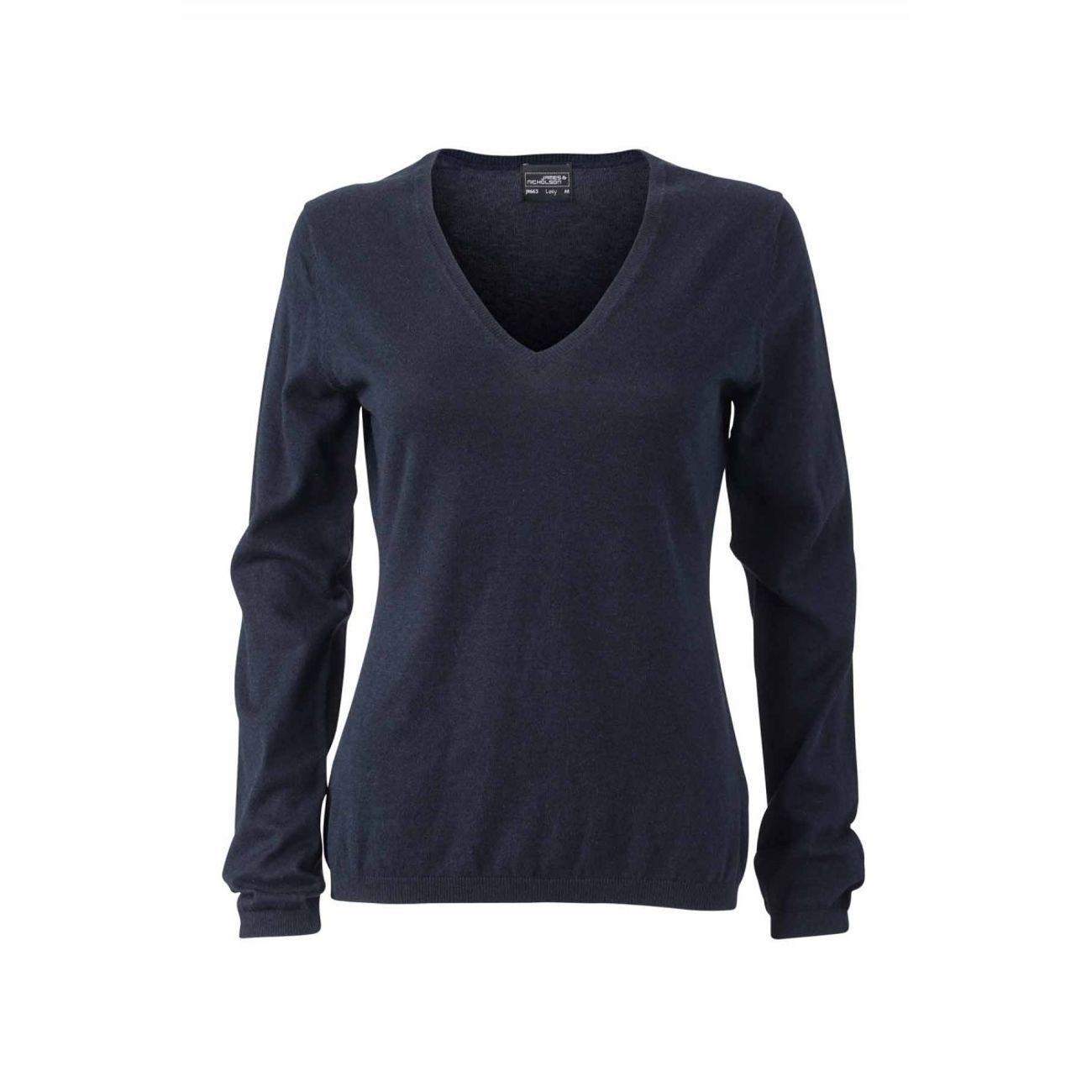 best loved 0dd24 7cda0 pull-classique-cachemire-col-v---femme---jn663---bleu-marine 1 v1.jpeg
