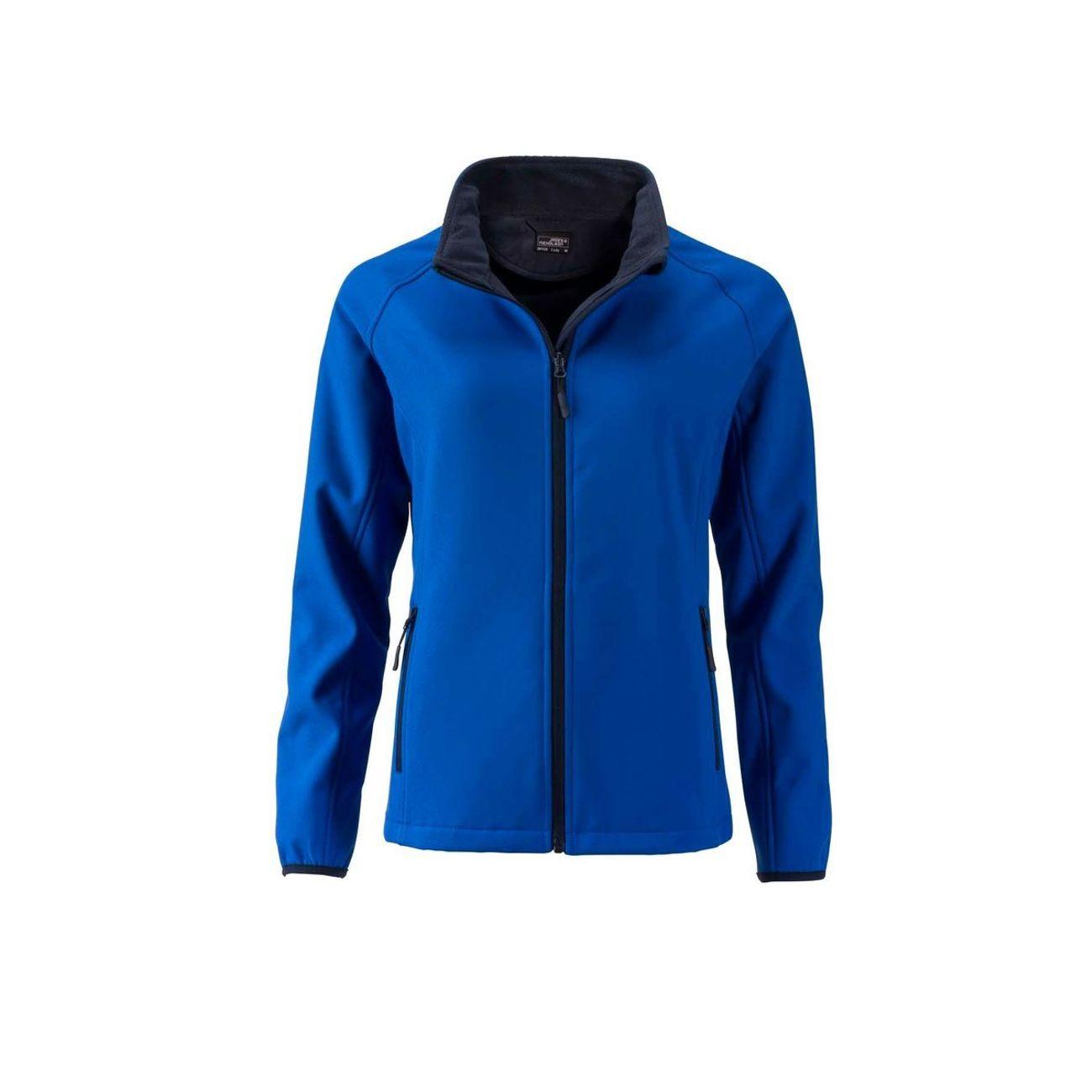 Randonnée pédestre femme JAMES & NICHOLSON Veste softshell coupe-vent déperlante femme JN1129 - bleu nautique