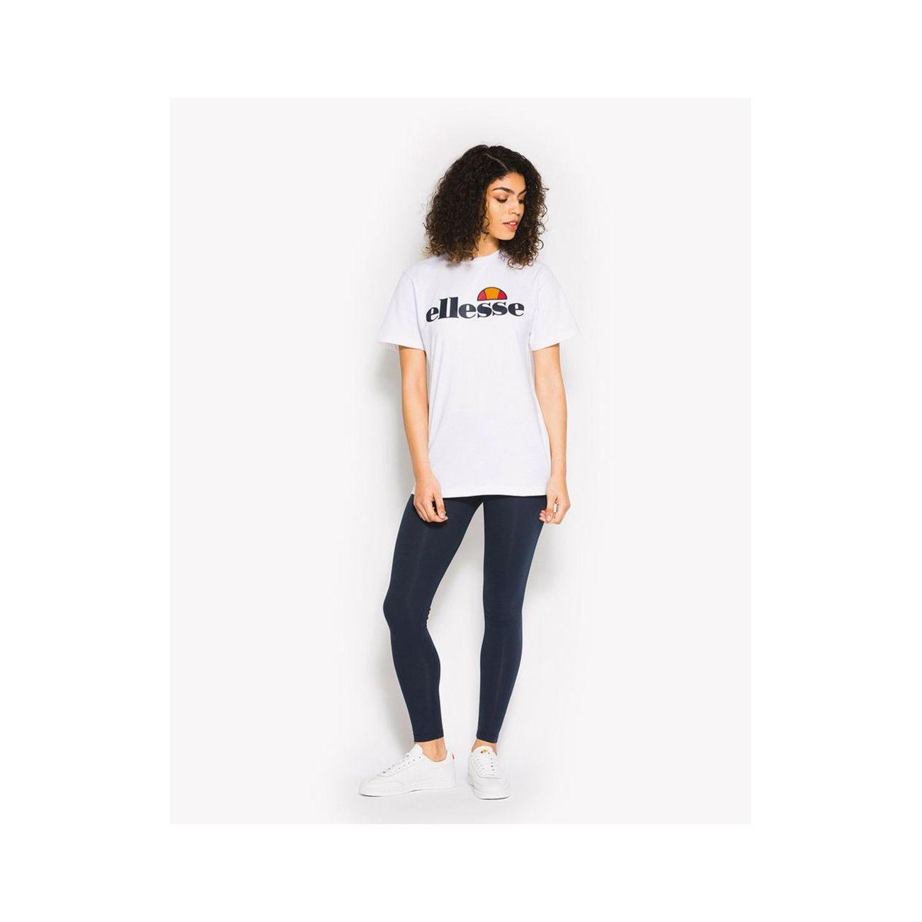 Athlétisme femme ELLESSE Ellesse Heritage Albany Womens Ladies Boyfriend Fashion T-Shirt Tee White - UK 12