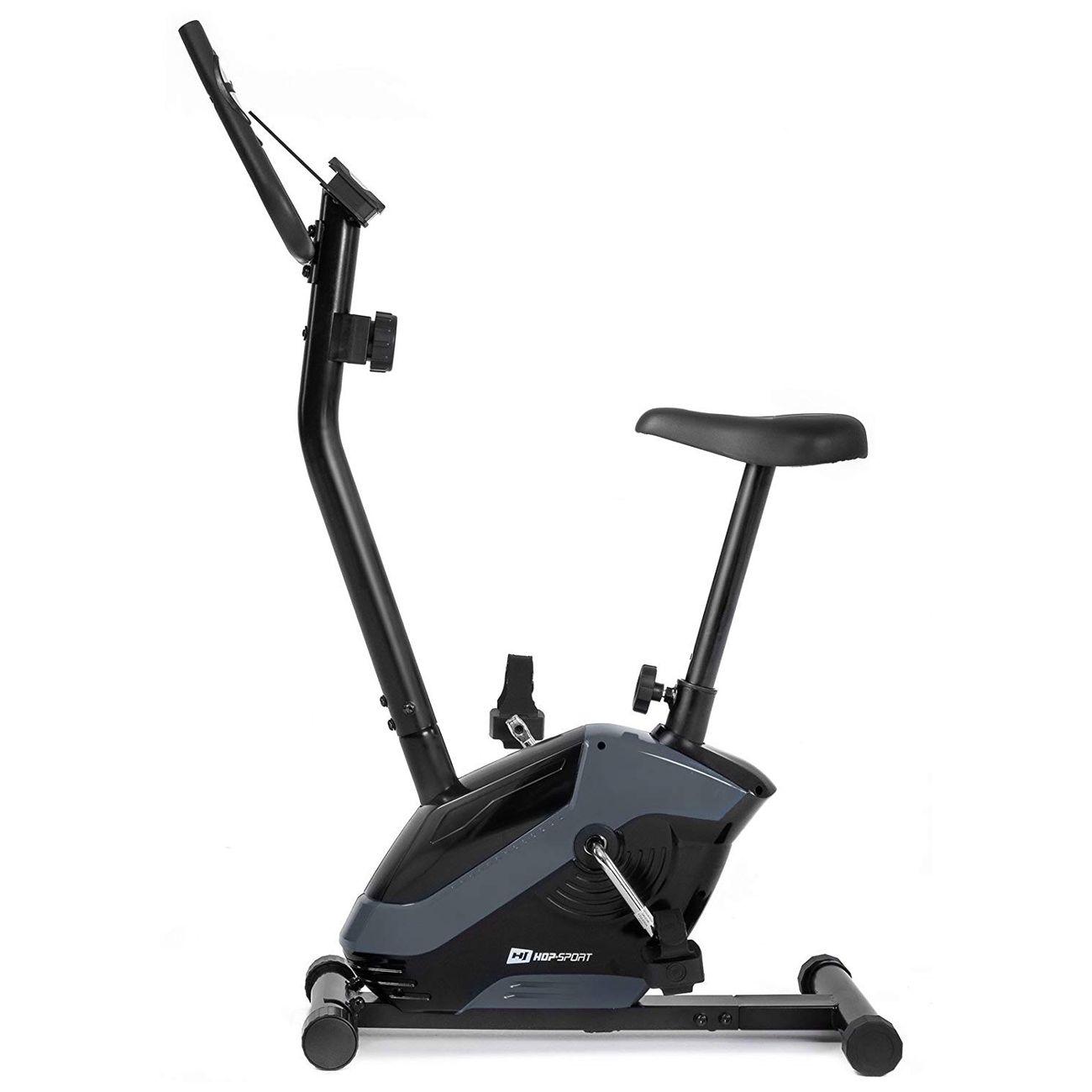 Fitness  HS HOP SPORT Hop-Sport Vélo d'appartement HS-045H EOS, Capteur cardiaque, Porte-tablette Charge max. 120 kg (bleu)