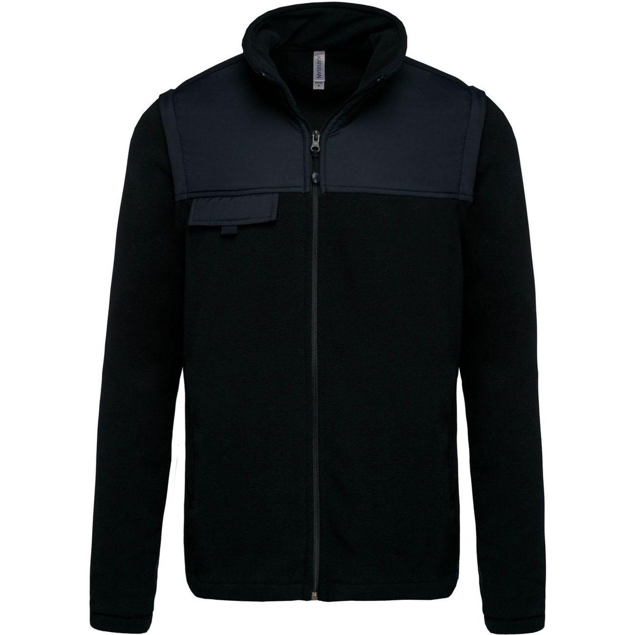 Randonnée pédestre homme KARIBAN Veste polaire manches amovibles - K9105 - noir