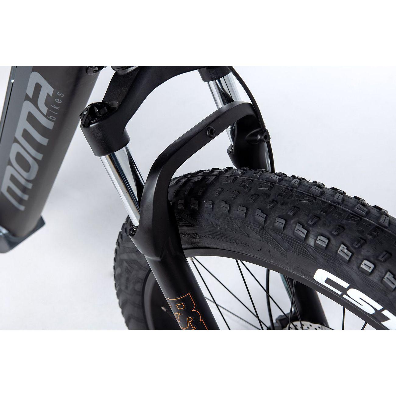 MOMABIKES VTT électrique Fatbike 26PRO, Full SHIMANO, Freins à disques Hydrauliques