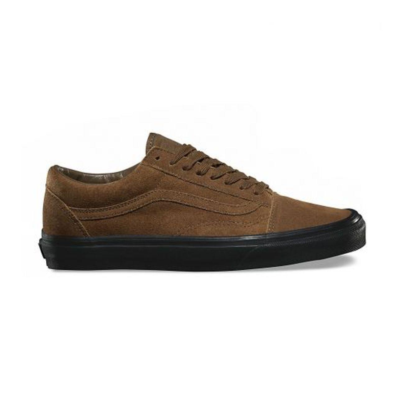 917dc1b7ef6b0f ... Mode- Lifestyle adulte VANS Chaussures Vans Old Skool Suede Teak Black  Brun Noir ...