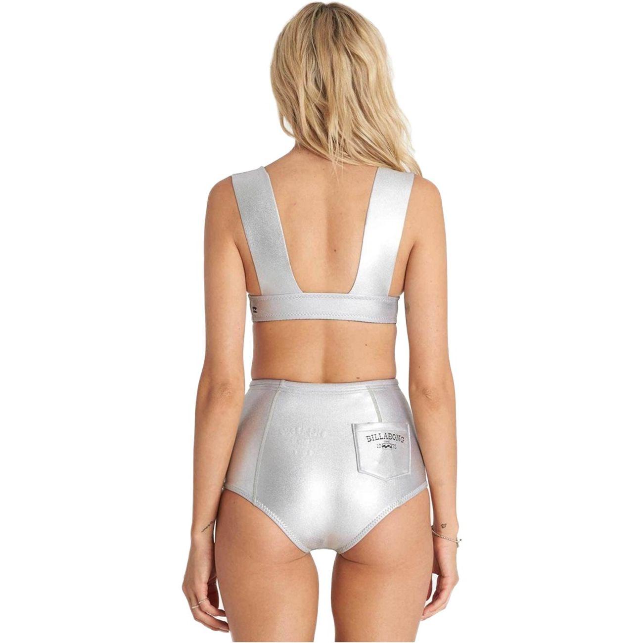 maillot de bain culotte haute billabong vintage short gris m tallique achat et prix pas cher