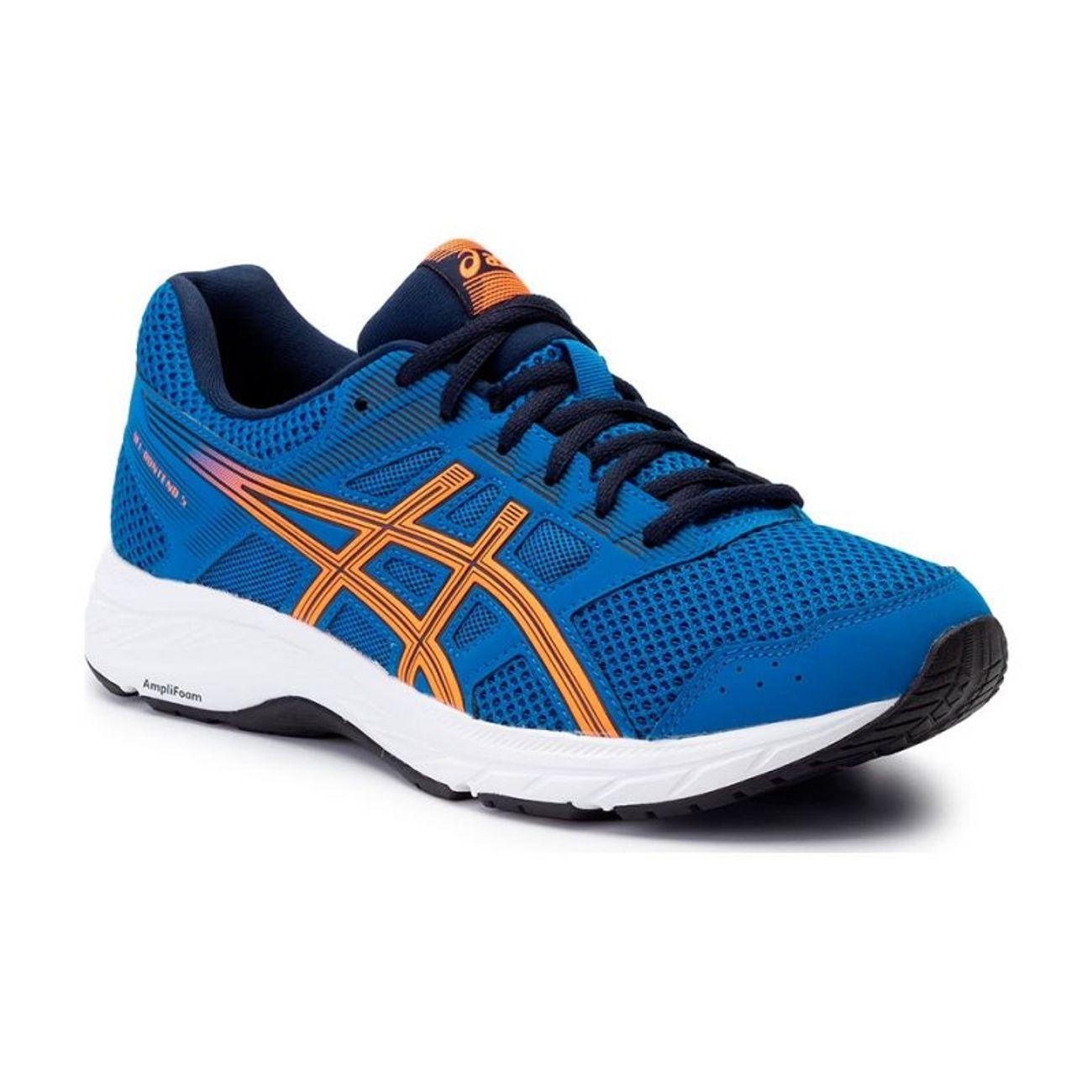 404 Gel Running Contend 5 Naranja Asics Adulte Azul 1011a256 AR5jL4