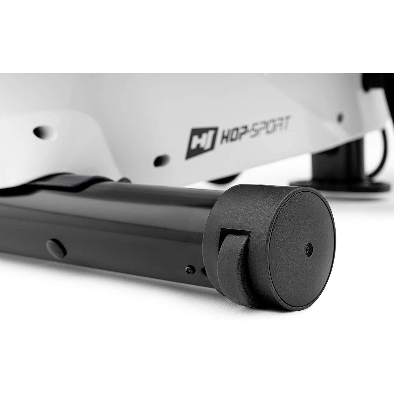 Fitness  HOP-SPORT HS HOP-SPORT Rameur magnétique à tirage central CROSS HS-060R, Roue d'inertie de 9kg (Blanc)