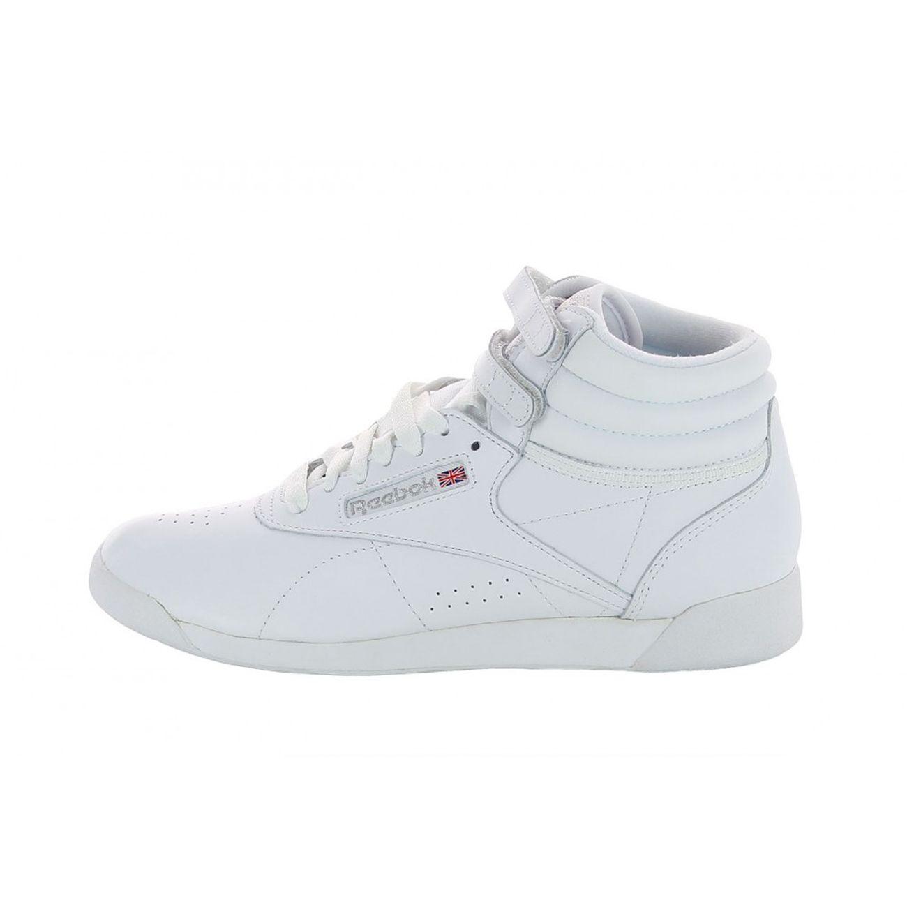 Reebok Sport Freestyle HI Blanc - Chaussures Basket montante Femme   053af5e697b9