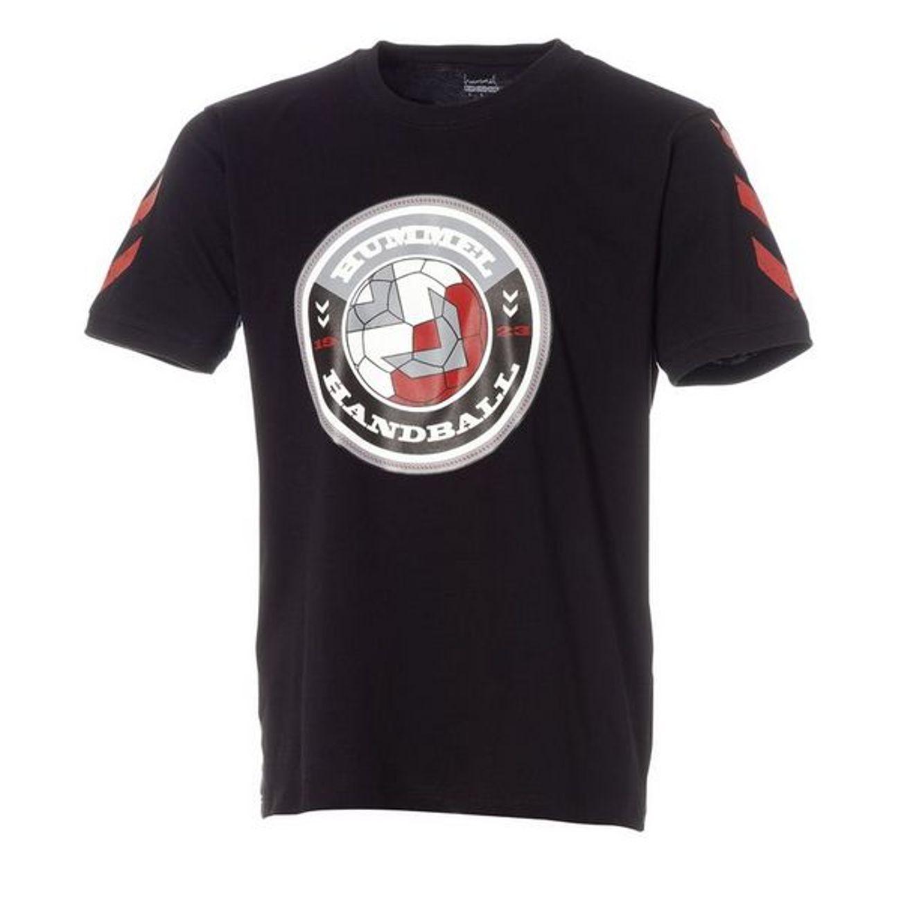 Handball homme HUMMEL HUMMEL TEE-SHIRT STAMP Noir / Rouge