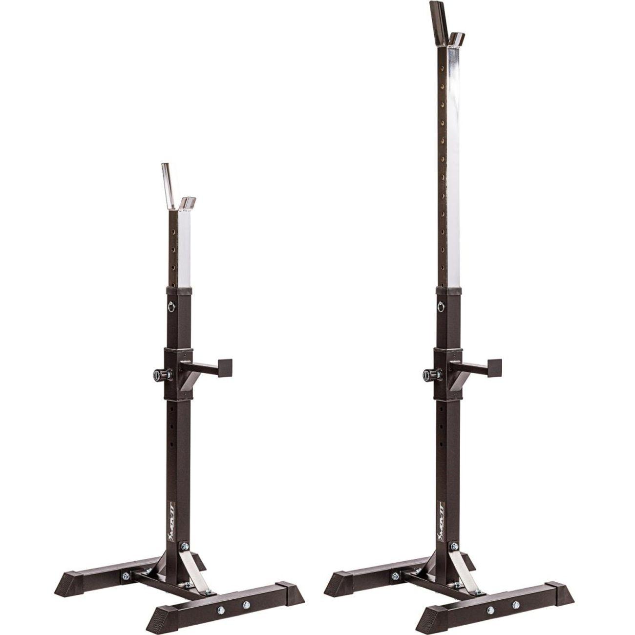 Fitness  MOVIT MOVIT Rack à Squat, ensemble de 2 supports d'haltères réglable, supports pour haltères de muscu, Home-Gym, couleur noir