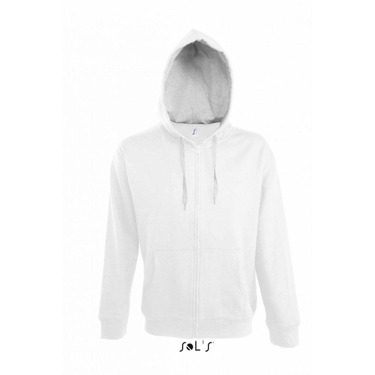 best website e5b77 151b8 veste-zippee-homme -bicolore-a-capuche-contrastee-et-doublee-46900---blanc 1 v1.jpeg