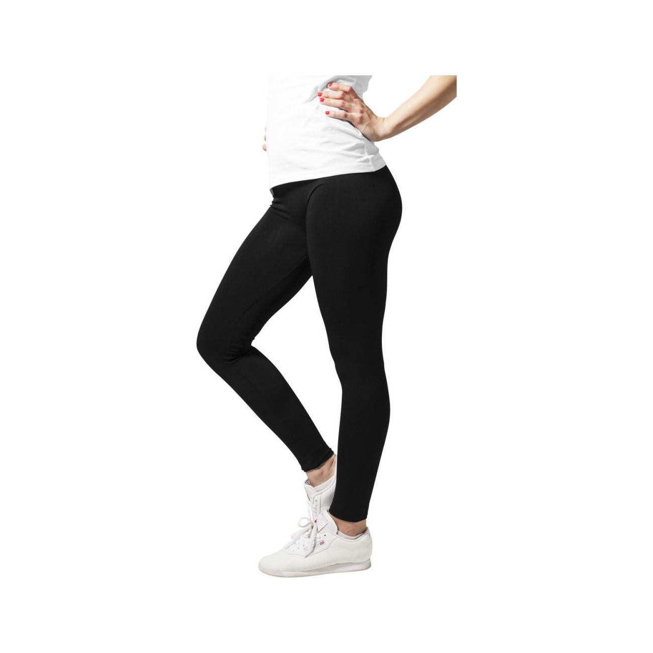 Mode- Lifestyle femme URBAN CLASSICS Legging Urban Classics Femme Noir Polyamide